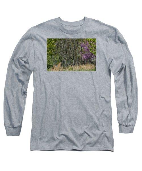 Purple And Green Long Sleeve T-Shirt
