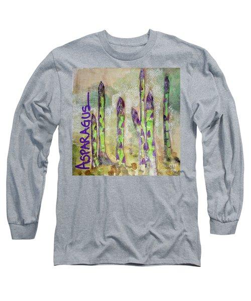 Purple Asparagus Long Sleeve T-Shirt by Kim Nelson