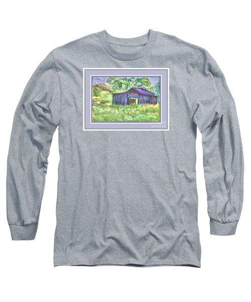 Purple Barn Grey Border Long Sleeve T-Shirt