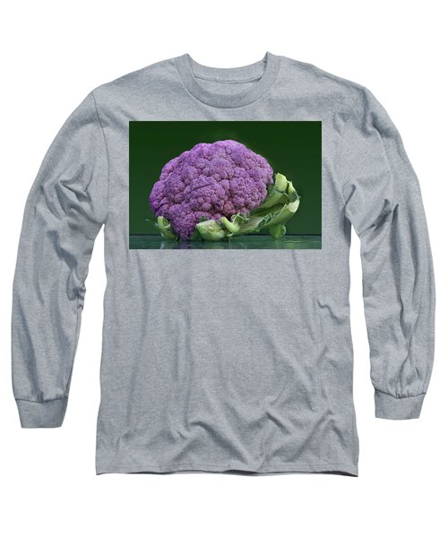 Purple Cauliflower Long Sleeve T-Shirt by Nikolyn McDonald