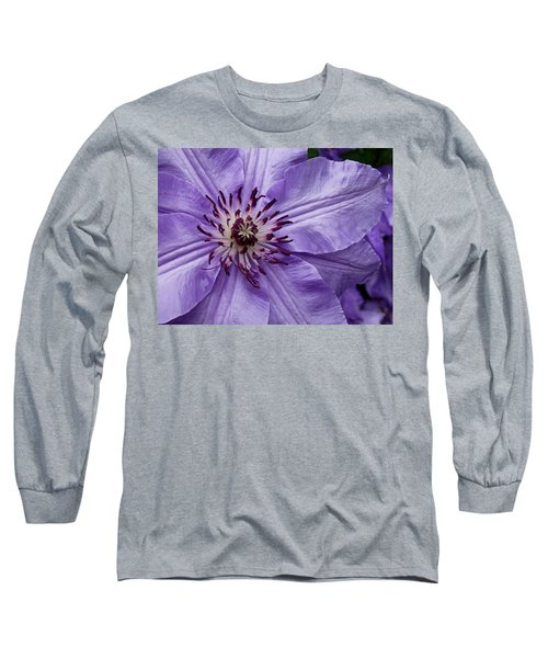 Purple Clematis Blossom Long Sleeve T-Shirt