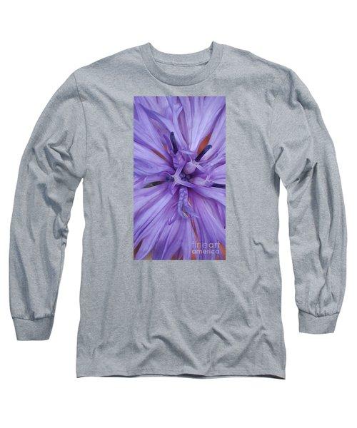 Purple Colorado Wildflower In Macro Long Sleeve T-Shirt