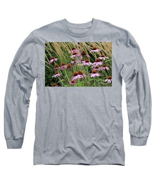 Purple Coneflowers Long Sleeve T-Shirt