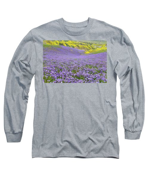 Purple  Covered Hillside Long Sleeve T-Shirt by Marc Crumpler
