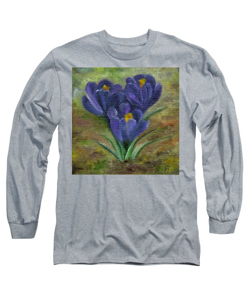 Purple Crocus Long Sleeve T-Shirt