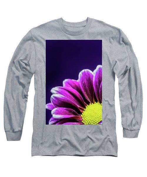 Purple Daisy Being Shy Long Sleeve T-Shirt