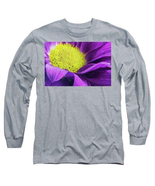 Purple Daisy In The Garden Long Sleeve T-Shirt
