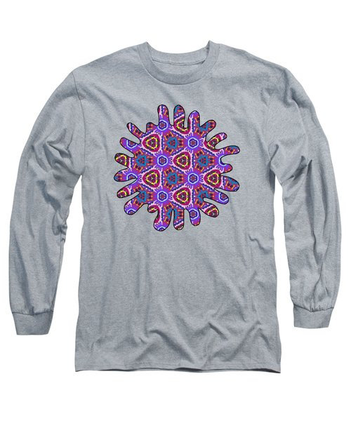 Purple Doodles - Hidden Smiles Long Sleeve T-Shirt