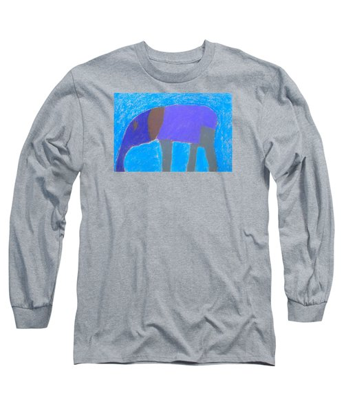 Long Sleeve T-Shirt featuring the pastel Purple Elephant by Artists With Autism Inc