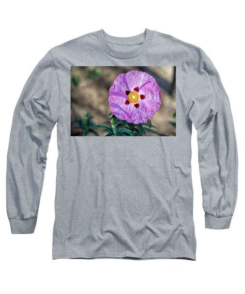Purple Rockrose Long Sleeve T-Shirt