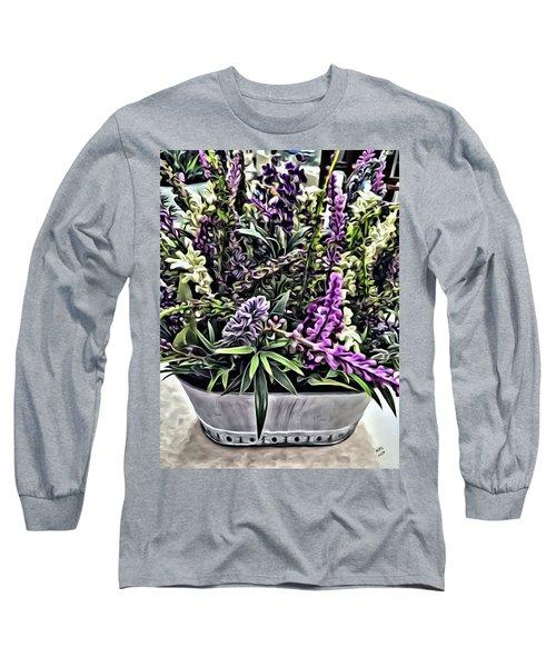 Purple Flowers In Bloom Long Sleeve T-Shirt