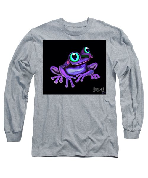 Long Sleeve T-Shirt featuring the painting Purple Frog  by Nick Gustafson