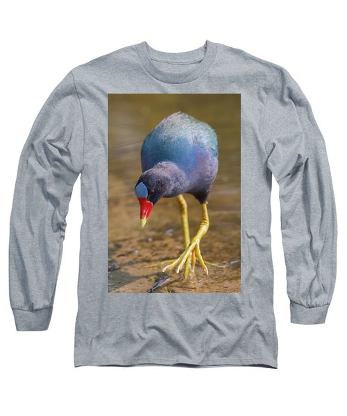 Purple Gallinule Bigfoot Long Sleeve T-Shirt