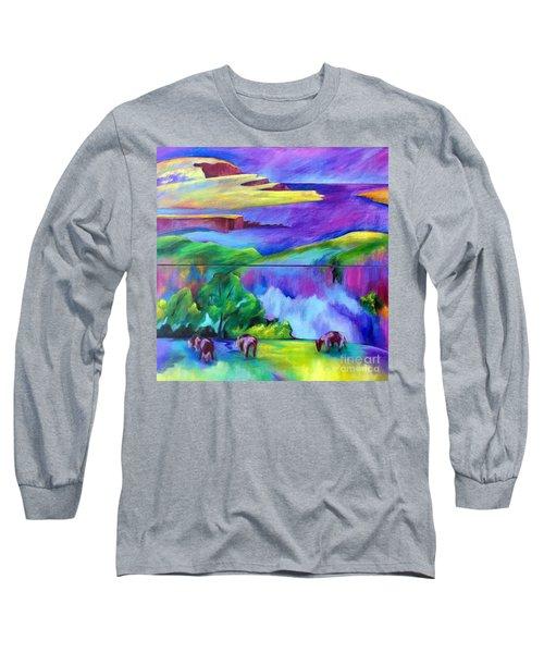 Purple Graze Long Sleeve T-Shirt