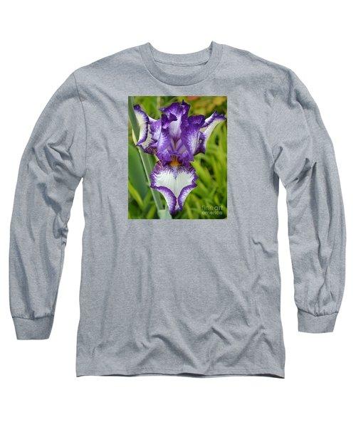 Purple Iris Art Long Sleeve T-Shirt