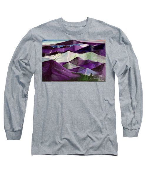Purple Mountains Majesty Long Sleeve T-Shirt by Kim Nelson