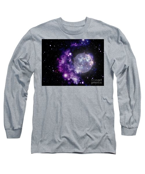 Purple Nebula Long Sleeve T-Shirt