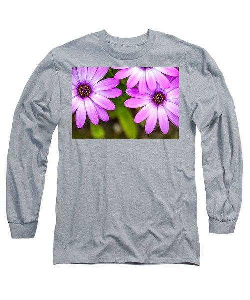 Purple Petals Long Sleeve T-Shirt by Az Jackson