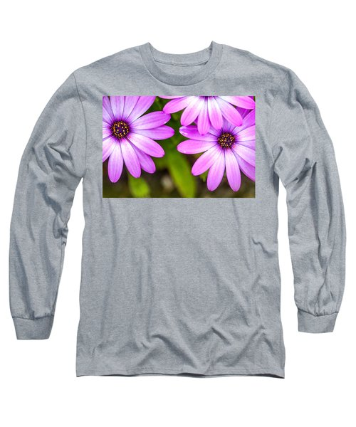Purple Petals Long Sleeve T-Shirt