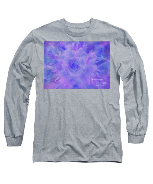 Purple Passion By Sherriofpalmspringsflower Art-digital Painting  Photography Enhancements Tradition Long Sleeve T-Shirt by Sherri's Of Palm Springs