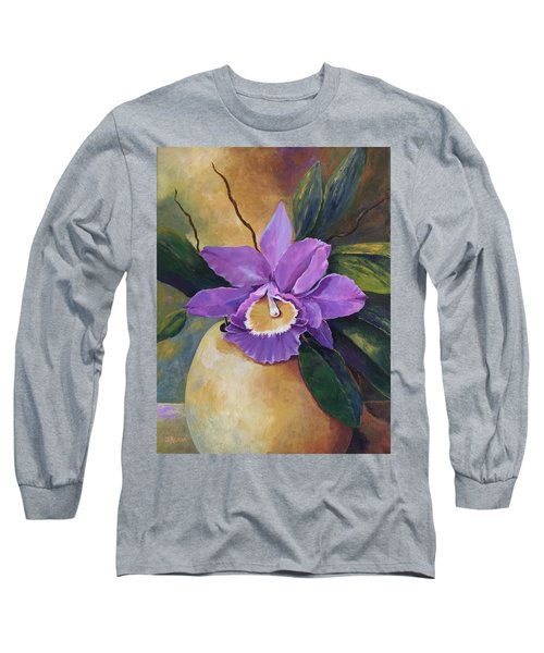 Purple Passion Orchid Long Sleeve T-Shirt