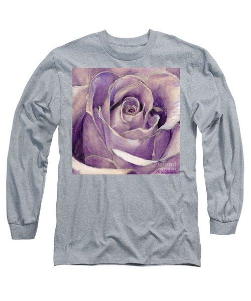 Purple Rose Long Sleeve T-Shirt