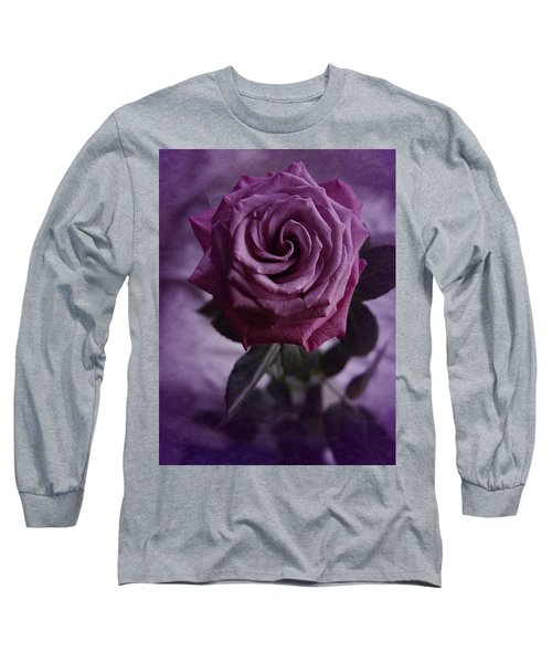 Long Sleeve T-Shirt featuring the photograph Purple Rose Of December by Richard Cummings