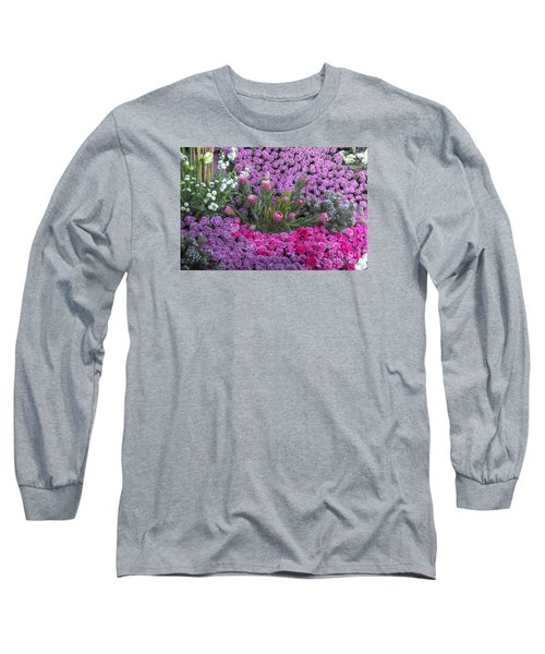 Purple Roses, Pinks And White Long Sleeve T-Shirt