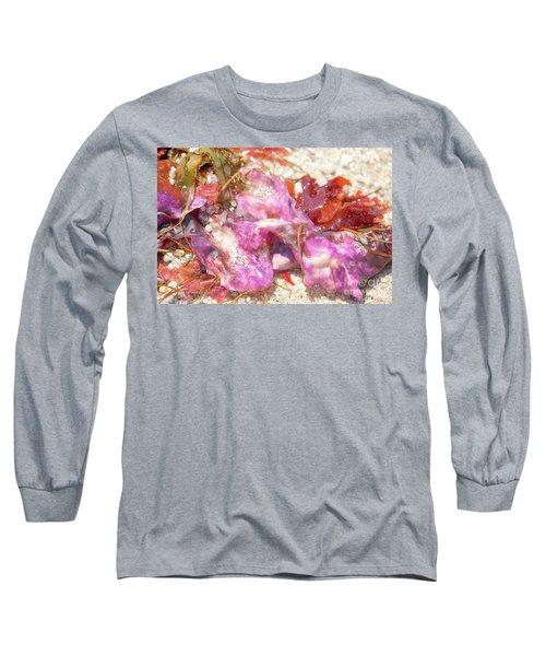 Purple Seaweed In Pacific Grove Long Sleeve T-Shirt