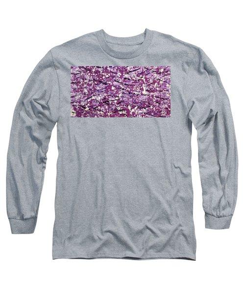 Purple Splatter Long Sleeve T-Shirt by Thomas Blood