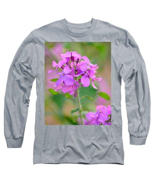Purple Star Phlox Long Sleeve T-Shirt