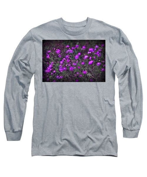 Purple Stars Long Sleeve T-Shirt