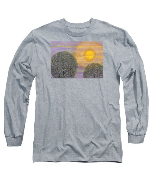 Purple Sunset Long Sleeve T-Shirt by Charles Cater