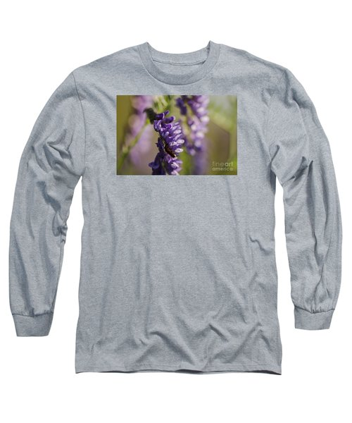 Purple Wildflowers Long Sleeve T-Shirt by JT Lewis