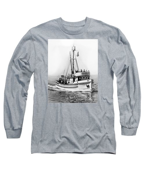 Purse Seiner Western Flyer On Her Sea Trials Washington 1937 Long Sleeve T-Shirt by California Views Mr Pat Hathaway Archives