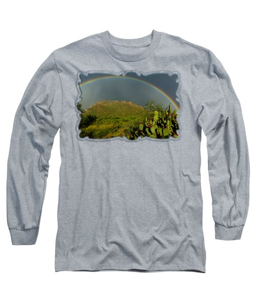 Pusch Ridge Rainbow H38 Long Sleeve T-Shirt by Mark Myhaver