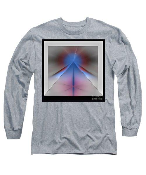 Long Sleeve T-Shirt featuring the digital art Pyramid by John Krakora
