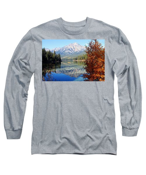Pyramid Mountain Reflection 3 Long Sleeve T-Shirt