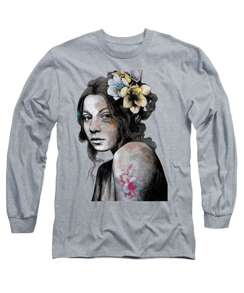 Qohelet - Young Lady With Freesias Tattoos Long Sleeve T-Shirt