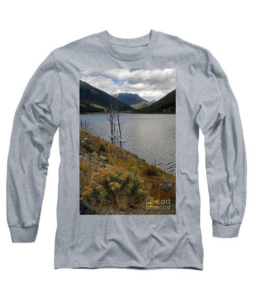 Quake Lake Long Sleeve T-Shirt by Cindy Murphy - NightVisions