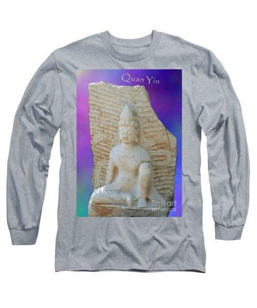 Quan Yin Royal Ease Pose Long Sleeve T-Shirt
