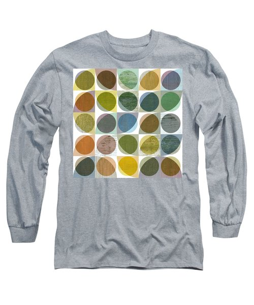 Long Sleeve T-Shirt featuring the digital art Quarter Circles Layer Project Three by Michelle Calkins