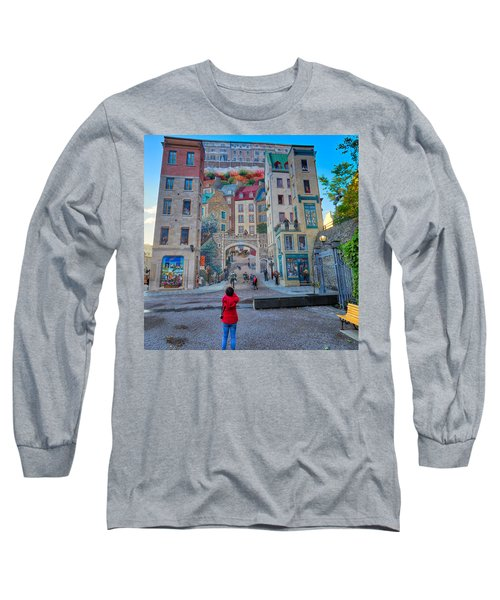 Quebec City Mural Long Sleeve T-Shirt