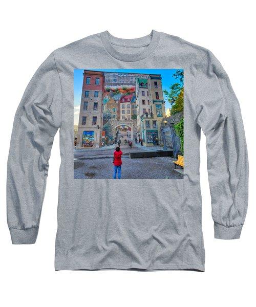 Quebec City Mural Long Sleeve T-Shirt