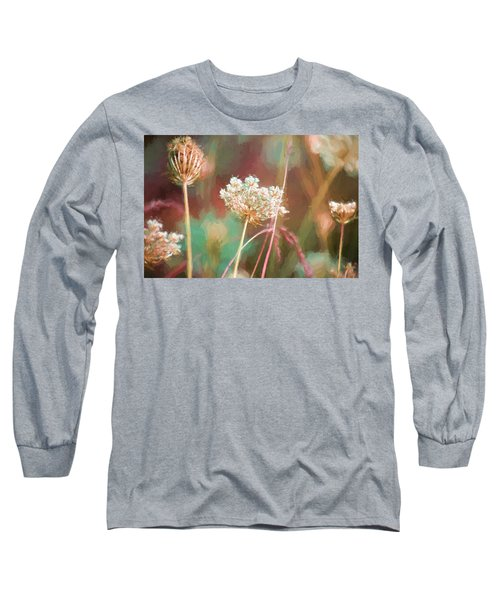 Queen Anne Impasto Long Sleeve T-Shirt by Bonnie Bruno
