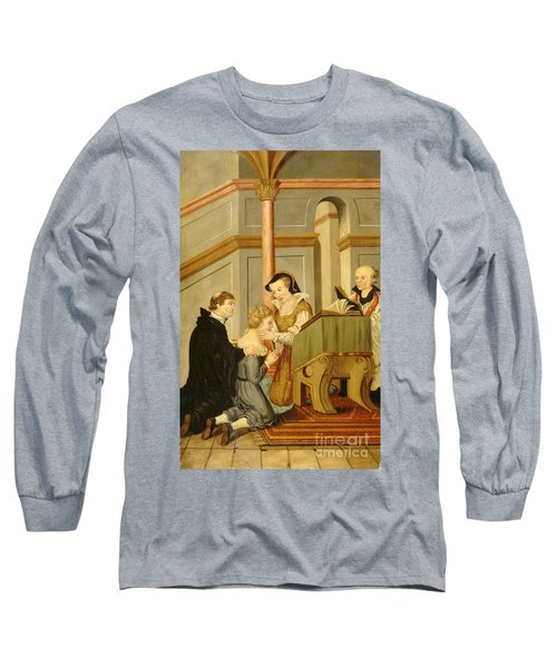 Queen Mary I Curing Subject With Royal Long Sleeve T-Shirt