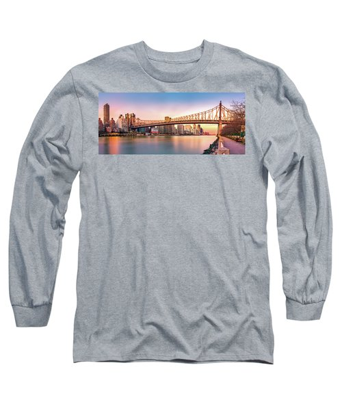 Queensboro Bridge At Sunset Long Sleeve T-Shirt
