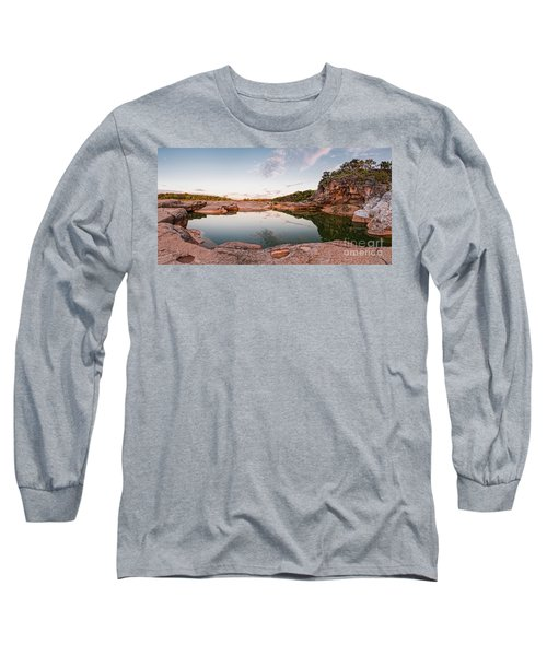 Quiet Contemplation At Pedernales Falls State Park - Johnson City Texas Hill Country  Long Sleeve T-Shirt