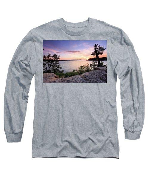 Quiet Sunset Long Sleeve T-Shirt by Jennifer Casey