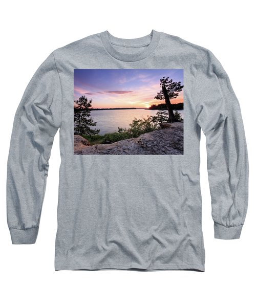 Quiet Waters Crop Long Sleeve T-Shirt by Jennifer Casey